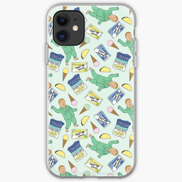 Bobby Hill Snacks Pattern - King of the Hill Pattern iPhone Soft Case