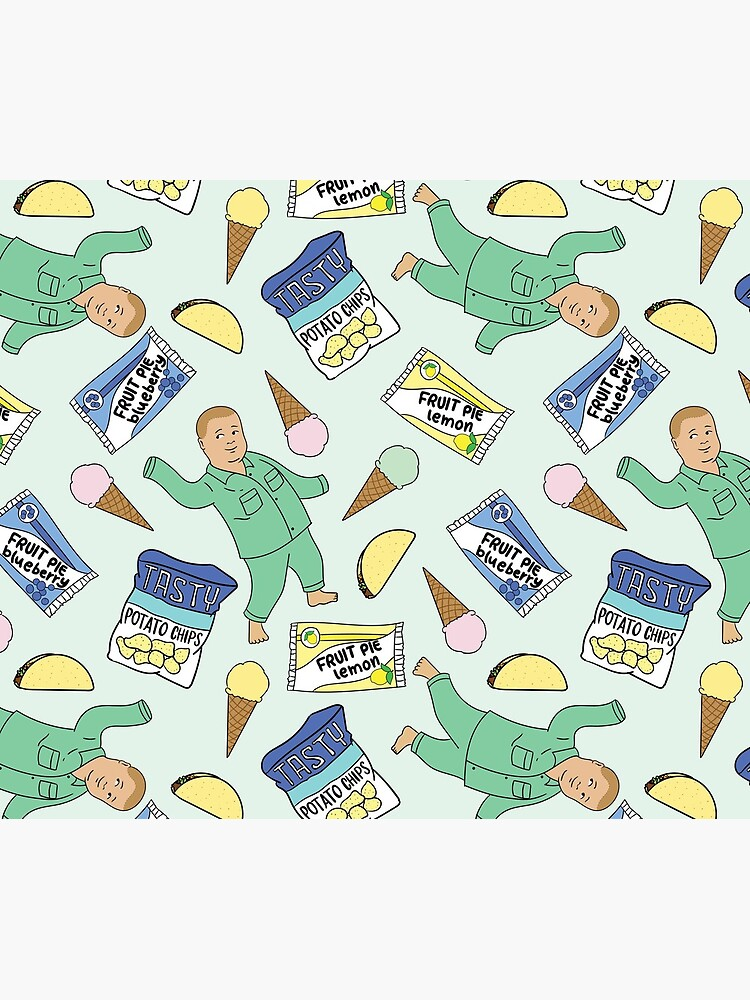 Bobby Hill Snacks Pattern - King of the Hill Pattern by hellodarlin