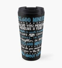 How Do You Measure A Year In Life? Travel Mug
