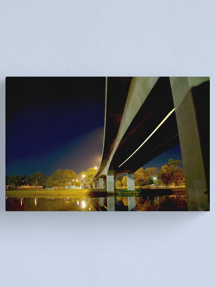 Alternate view of Night Bridge Canvas Print