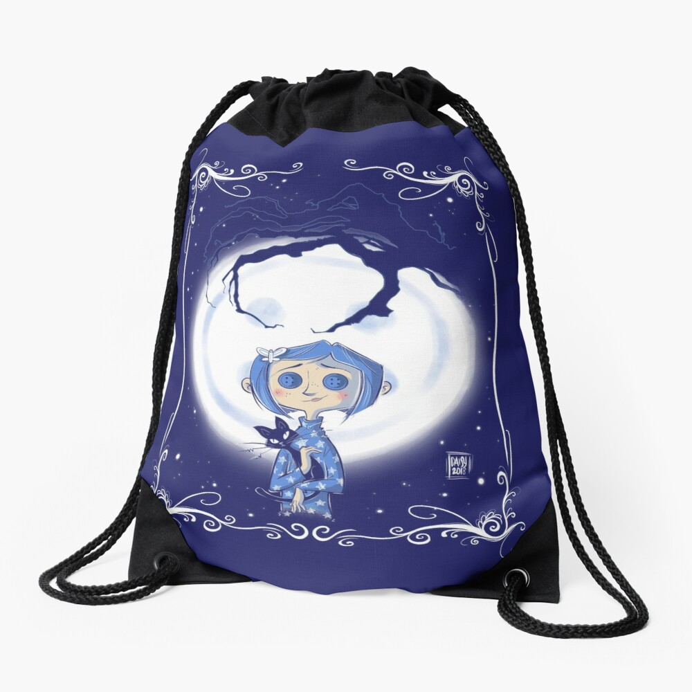 Be careful what you wish for. Drawstring Bag