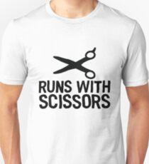 Runs With Scissors - Gift For Joke Sarcastic Unisex T-Shirt
