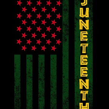 Juneteenth Freedom Day American Flag with African Colors by highparkoutlet