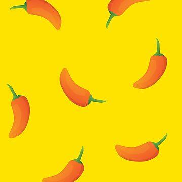 Orange Baby Pepper Pattern by petestyles