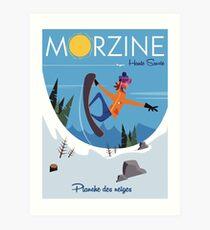 Morzine Snowboard poster Art Print