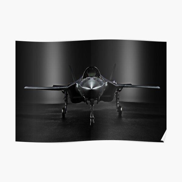 Advanced F35 jet aircraft Poster