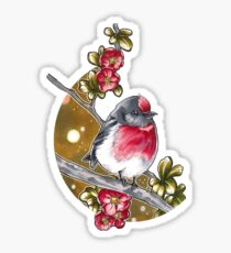 Red-capped robin Sticker