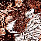 Rabbit Amongst The Flowers by CraftyBunStudio