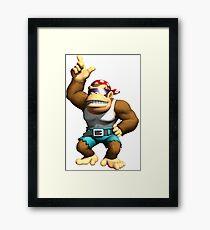 Donkey Kong - Funky Kong Framed Print