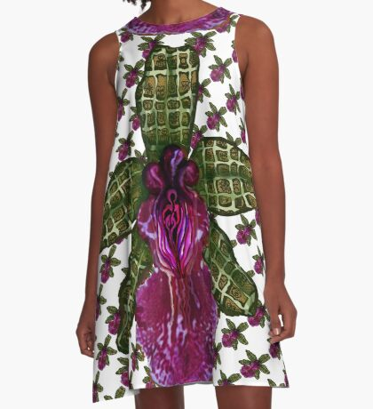 Pinque Trellis A-Line Dress