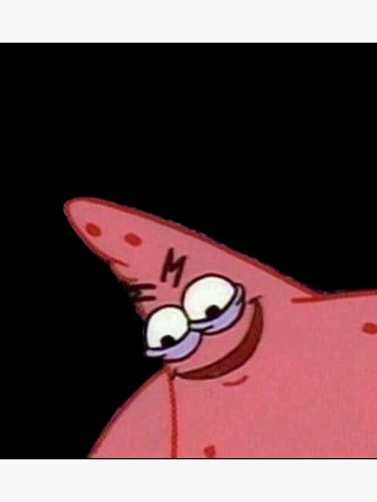 Evil Patrick Spongebob Meme Caveman Photographic Print By Boiiii