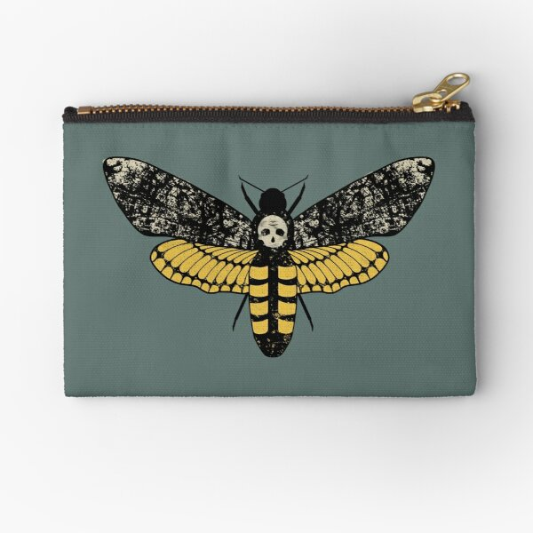 Death's Head Moth  Zipper Pouch
