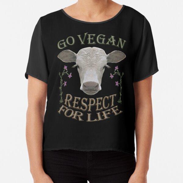 GO VEGAN - RESPECT FOR LIFE Chiffon Top