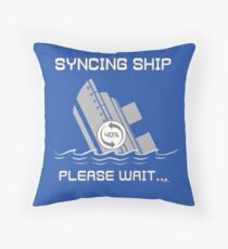 Syncing Ship Throw Pillow