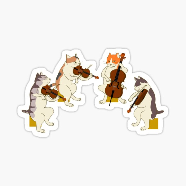 Cool Cat Quartet Sticker