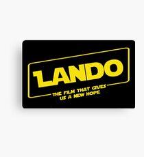Lando (solo parody) Canvas Print