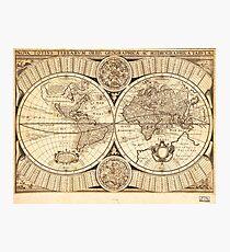 World Map circa 1643 (Nova Totivs Terrarvm) Photographic Print