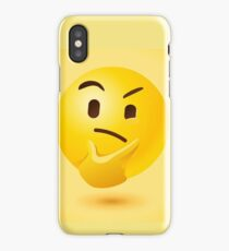 Yellow thinking face iPhone Case/Skin