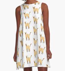 Siamese Cat A-Line Dress