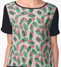 Leaf Pattern Chiffon Top