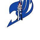 Fariy Tail Anime Erza Blue by Jonathan Masvidal