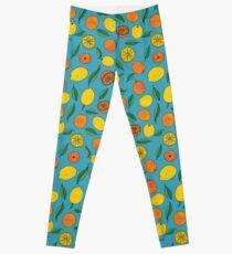 Oranges and Lemons Pattern Leggings