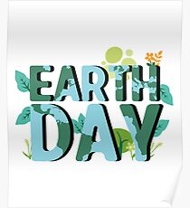 Earth Day Natural Elements  Poster