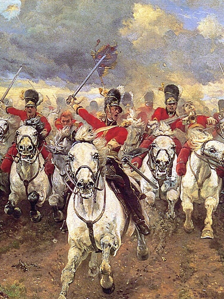 Scotland Forever! 1881, Battle of Waterloo, Lady Butler, Charge of the Royal Scots Greys. by TOMSREDBUBBLE