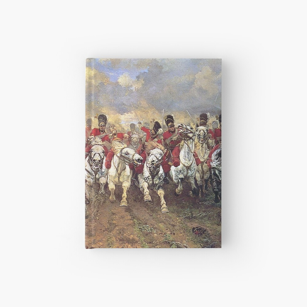 Scotland Forever! 1881, Battle of Waterloo, Lady Butler, Charge of the Royal Scots Greys. Hardcover Journal