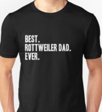 Rottweiler Shirt Dad Funny Pet Rottie Dog T-Shirt Print Art Clothing Unisex T-Shirt