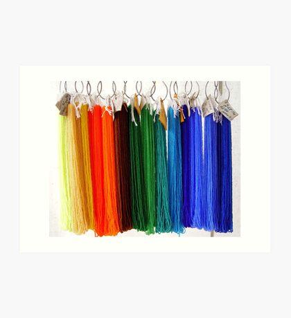 Beads - Rainbow Art Print