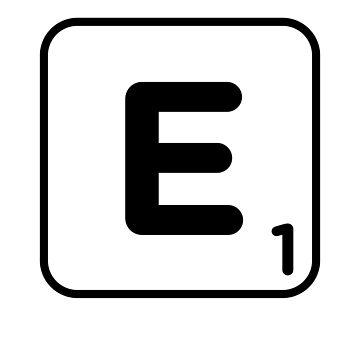 Letter E Tile - Gift For Meme Dank Joke by ShieldApparel