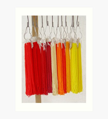 Beads - Red and Yellow Art Print