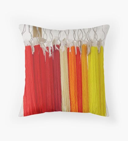 Beads - Red and Yellow Throw Pillow