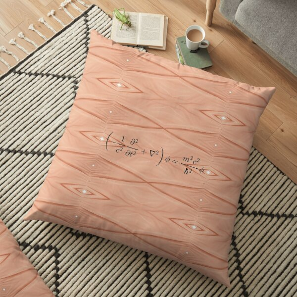 Physics Prints,  Physics, Nature, temper, disposition, tone, structure, framework, Composition, frame Floor Pillow