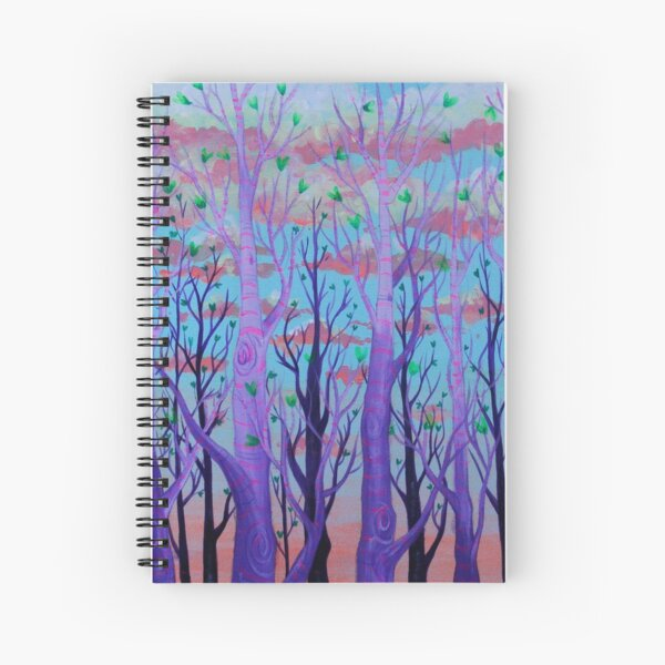 Purp-ple Trees Spiral Notebook