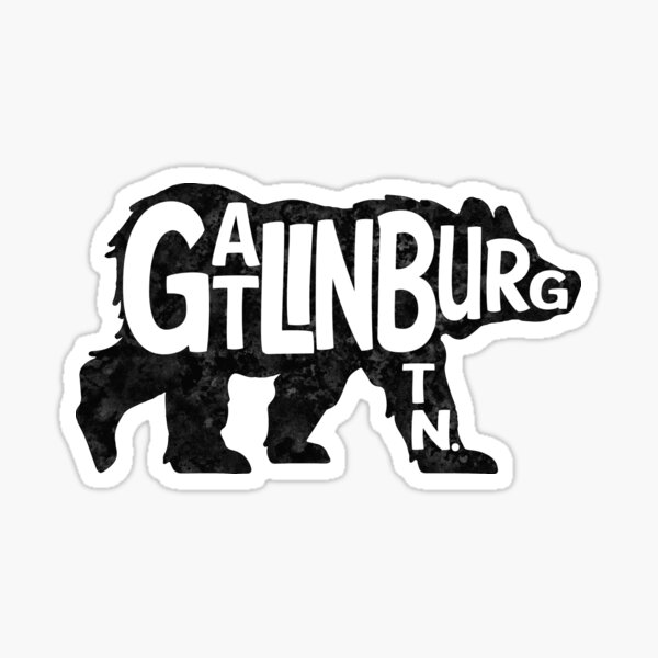 Gatlinburg Tennessee Bear Great Smoky Mountains TN Sticker