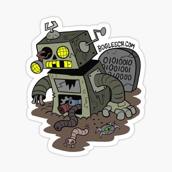 Zombie Robot Sticker