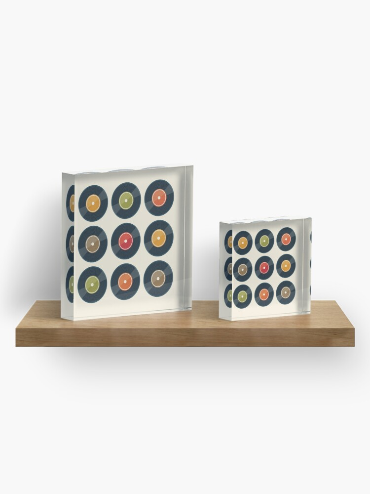 Alternate view of Vinyl Record Collection Acrylic Block