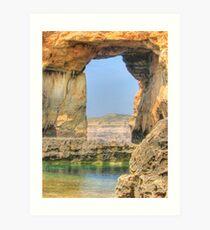 Azure Window, Dwejra, Gozo Art Print