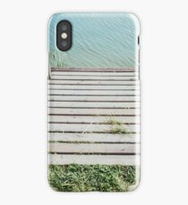 Wooden Lake Jetty Closeup iPhone Case/Skin