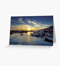 Camogli - Sunset - Italy  Greeting Card