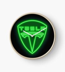 Tesla Neon Sign Clock