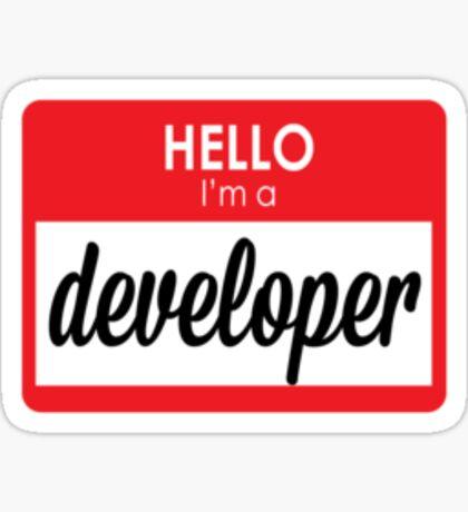 I'm a developer Sticker