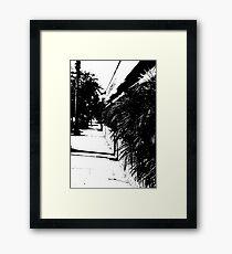 """""""Sidewalk"""" Framed Print"""