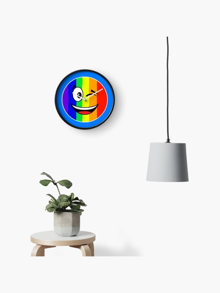 Rainbow Winky Face Emoji - LBGT Gay Pride | Clock