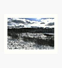 Landscape Snow Art Print