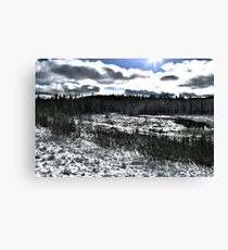 Landscape Snow Canvas Print
