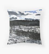 Landscape Snow Throw Pillow