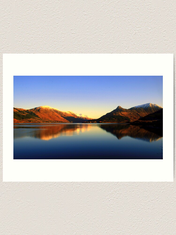 Alternate view of Loch  Leven and The Pap of Glencoe  Art Print